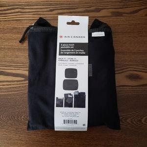 Air Canada 5 Piece Mesh Packable Set - Black